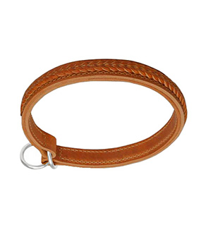 Braided Leather Choke Collar
