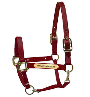 Nylon Leather Crown Halter For Horses With Nameplate