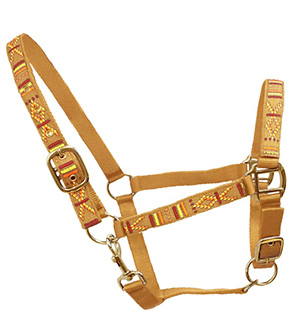 Embroidered Design adjustable Nylon halter For Horses