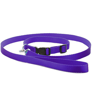 Nylon Adjustable Collar With Lead