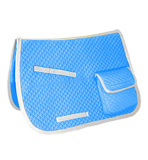 Shock Absorbing Saddle Pad For Ranch Work