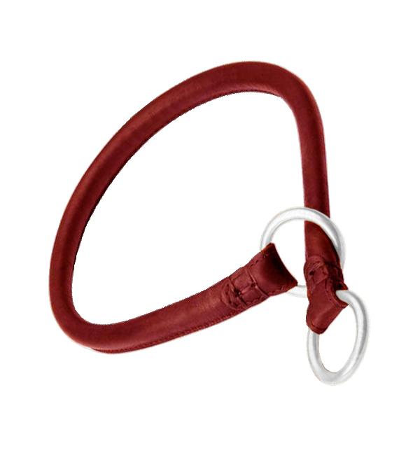 Rounded Leather Choke Dog Collar