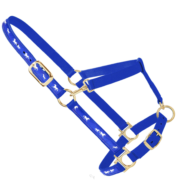 Nylon Halter With Horse Lace